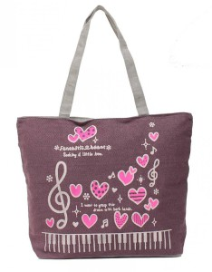 kysma-canvas-strandtas-music-and-heart-paars